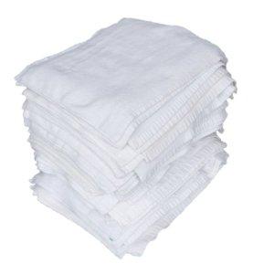画像1: 白タオルマットカットウエス 【検針済】 10kg梱包(2kg×5袋)